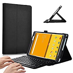 IVSO ASUS Zenpad Z8 ZT581KL Case With Keyboard - High Quality Leather Slim-Front Prop Stand Cover Case ASUS Zenpad Z8 Verizon Tablet(Black)