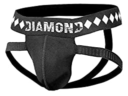 Diamond MMA - 4-Strap Jock Strap Supporter with Built-in Athletic Cup Pocket, X-Large