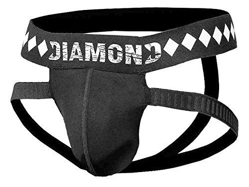 Diamond MMA - 4-Strap Jock Strap Supporter with Built-in Athletic Cup Pocket, Medium
