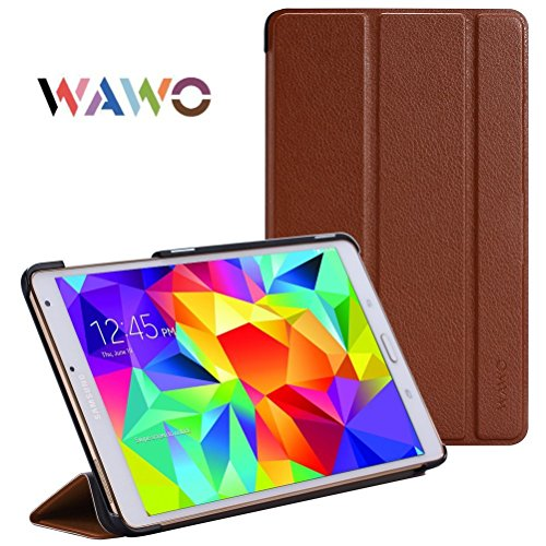 Wawo Creative Smart Tri-Fold Cover Case For Samsung Galaxy Tab S 8.4-Inch Tablet - Coffee front-992413