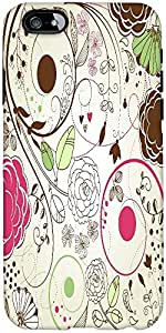 Snoogg Retro Floral Background Designer Protective Back Case Cover For Apple ...