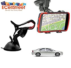 ECellStreet TM Mobile phone soft tube mount holder with suction cup - Multi-angle 360° Degree Rotating Clip Windshield Dashboard Smartphone Car Mount Holder Volvo V40 Cross Country