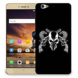 Snoogg Skull Gun Andbullets Designer Protective Back Case Cover For GIONEE S6