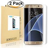 Galaxy S7 Edge Screen Protector [Full Coverage], PLESON® [3D Full Curved Edge] Screen Protector for Samsung Galaxy S7 Edge [Edge to Edge], [2-PACK] Extreme Clarity Invisible Shield - LIFETIME WARRANTY