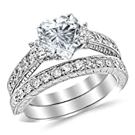 White Gold Classic Channel Set Weddin…
