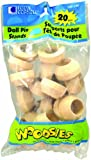 Loew Cornell Woodsies 1-1/8-Inch by 1/2-Inch Round Doll Pin Stands, 20-Count