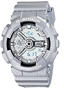 Casio GA110BC-8A Men's G-Shock Ana-Digi Grey Dial Grey Resin Strap World Time Alarm Dive Watch