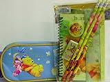 Handy Pooh Blue Pencil Case & Stationery Set