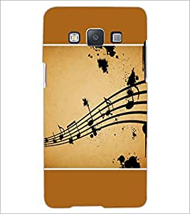 PrintDhaba Music Notes D-1428 Back Case Cover for SAMSUNG GALAXY E5 (Multi-Coloured)