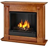 Real Flame Petite Cathedral Electric Fireplace in Oak