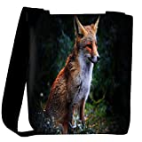 Snoogg Abstract Unique Fox Designer Womens Carry Around Cross Body Tote Handbag Sling Bags