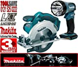 Makita BSS611Z 18V 165mm Cordless Circular Saw Plus BML185 18V Cordless Torch (Body Only)