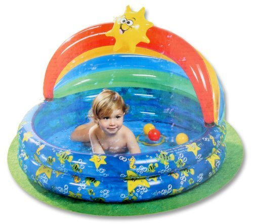 Splash and Play Kiddie Pool with Detachable Awning by Bestway