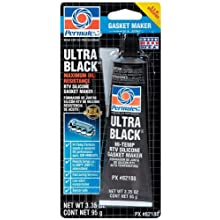 Permatex 82180-12PK Ultra Black Maximum Oil Resistance RTV Silicone Gasket Maker, 3.35 oz. Tube (Pack of 12)