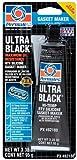 Permatex 82180-12PK Ultra Black Maximum Oil Resistance RTV Silicone Gasket Maker, 3.35 oz. Tube (Pack of 12)
