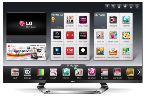 LG 55LM760T 55-inch Widescreen Full HD 1080p LED 800Hz Cinema 3D Smart TV with Freeview HD Black Friday & Cyber Monday 2014