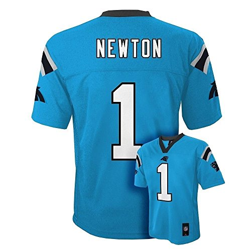 Cam Newton Carolina Panthers #1 NFL Youth Mid-Tier Alternate Jersey Blue (Youth Large 14/16)