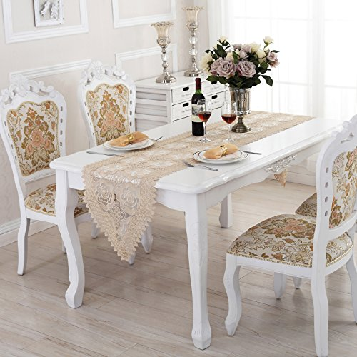 Beige Lace Table Runner