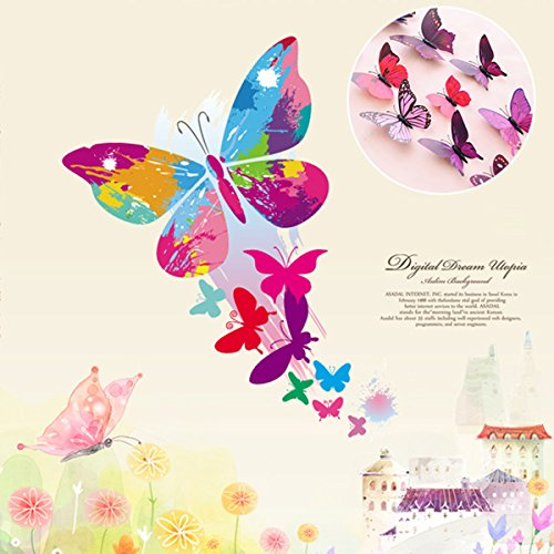 Uelfbaby-12-Pcs-Beautiful-3d-Butterfly-Wall-Decals-Removable-Diy-Home-Decorations-Art-Decor-Wall-Stickers-Murals-for-Babys-Bedroom-Tv-Background-Living-Room