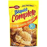 Betty Crocker Bisquick Complete Cheese Garlic Biscuit Mix, Just Add Water! 7.5 Oz. = 6 to 8 Biscuits (4 Pack)