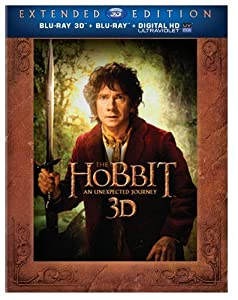 The Hobbit: An Unexpected Journey (Extended Edition) (Blu-ray 3D + Blu-ray + UltraViolet) by New Line Home Video