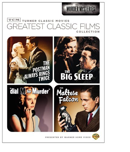 Cover art for  TCM Greatest Classic Films Collection: Murder Mysteries (The Maltese Falcon / The Big Sleep / Dial M for Murder / The Postman Always Rings Twice 1946)