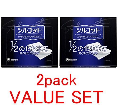 unicharm-silcot-uruuru-sponge-facial-cotton-18-ounce40-sheets-x-2-pack-value-set