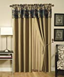 Chezmoi Collection French Country Wild Deer and Elk Design 4-Piece Window Curtain/Drape Set with Sheer Backing
