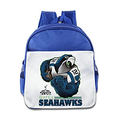 Huma Seattle The Seahawks Children School Bookbag Backpack RoyalBlue