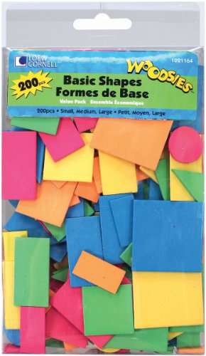Loew Cornell Woodsies Basic Shapes Value Pack, 200-Count
