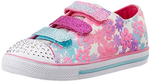 skechers-chit-chat-glint-gleam-sneakers-basses-fille-blanc-33-eu-135-uk