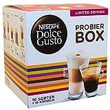 Nescafé Dolce Gusto Try Box, Mix, Coffee, Cappuccino, Chococino, Café au lait, Lungo, Grande, Espresso, 10 Flavours, 16 Capsules