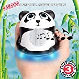 GOgroove Groove Pal Jr. Panda Portable Light-Up Speaker with Impressive Dynamic Audio Driver and Enhaced Bass Woofer for Smartphones , Tablets , MP3 Players & More!