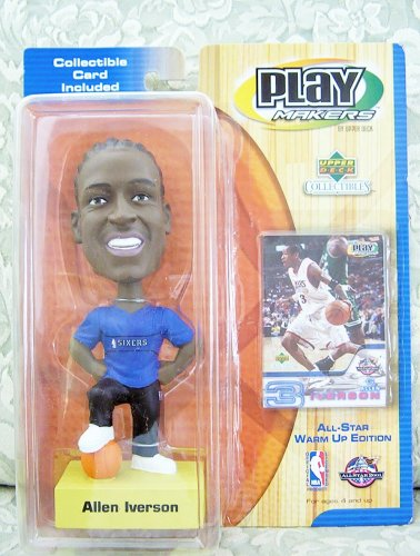 2001 NBA Playmakers Bobbing Head Doll All-Star Warm Up Edition - Allen Iverson - 1