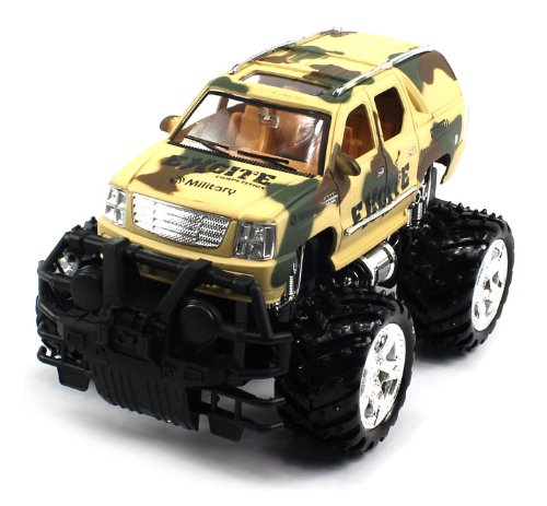 Big Size Rechargeable Electric 1:16 Military Armor Cadillac Escalade Rtr Rc Truck (Colors May Vary) Remote Control Monster Truck!