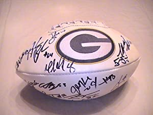 2012 Green Bay Packers Team Signed Autographed Football Randall Cobb , Clay Matthews... by Riddell