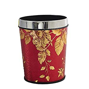 bathroom trash can small 6l leather trash bin without lid color c