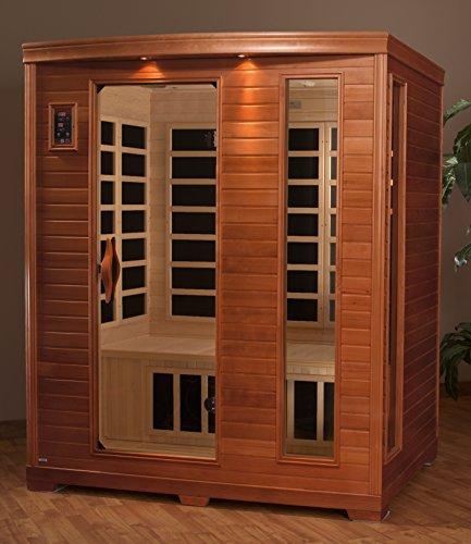 DYNAMIC SAUNAS AMZ-DYN-6444-04 Modena 2-Person Far Infrared Sauna Home ...