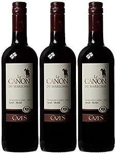 Cazes Le Canon du Marechal Syrah Merlot 2013 Wine 75 cl (Case of 3)