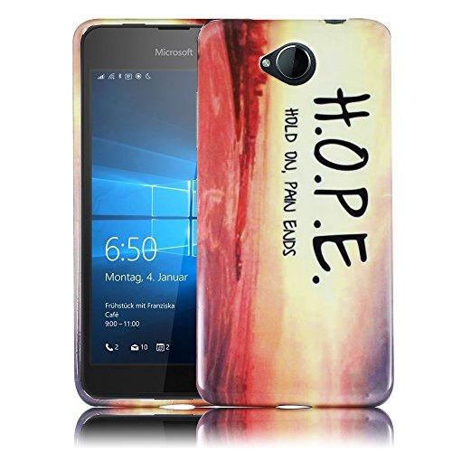 Microsoft Lumia 650 H.O.P.E. Hold On Pain Ends Cassa del respingente caso della copertura della cassa del silicone Caso molle della copertura di vibrazione posteriore smartphone a portata di mano thematys®