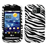 Zebra Skin Phone Protector Cover for LG VS660 (Vortex)