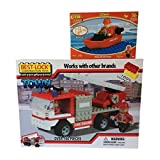 Best-Lock Fire Truck And Firemen Set With Bonus Fire Dept. Boat