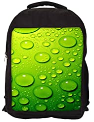 Snoogg Drops On Phone Backpack Rucksack School Travel Unisex Casual Canvas Bag Bookbag Satchel