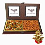 Chocholik Colorfull Treat Of Dry Fruits Box With Ganesha Idol - Chocholik Dry Fruits