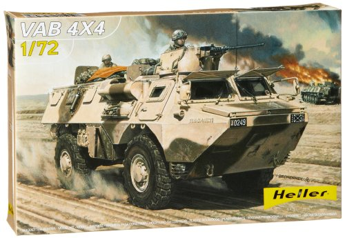 Heller VAB 4 x 4 Armored Amphibious Vehicle Military Land Vehicle Model Building Kit