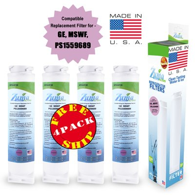(4-Pack) - Ge Wf-282 Compatible Refrigerator Water And Ice Filter By Zuma Filters (Opfg4)