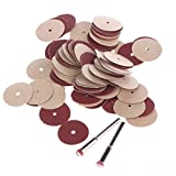 Generic 3mm Shank 20mm Sanding DIsc Pad For Dremel Foredom Rotary tools Pack of 100Pcs