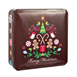 Byrd Cookie Company Merry Christmas Tin, Chocolate Mint, 6-Ounce Tins (Pack of 2)