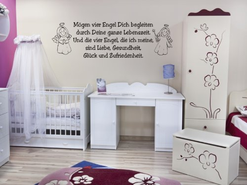 wandtattoo kinderzimmer spruch mit engel liebe gl ck. Black Bedroom Furniture Sets. Home Design Ideas