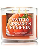 Bath & Body Works Sweet Cinnamon Pumpkin Candle 14.5 Oz 3 Wick Limited Edition for 2015